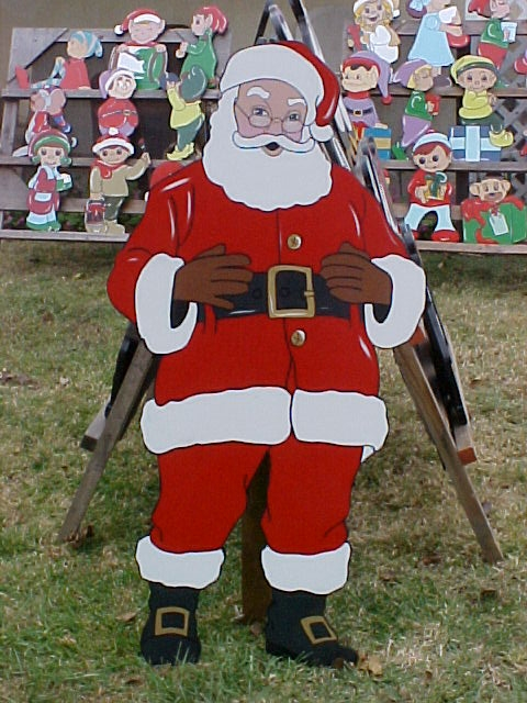 Looking for santa idea for a cutout plywood coro cutouts for Yard cutouts